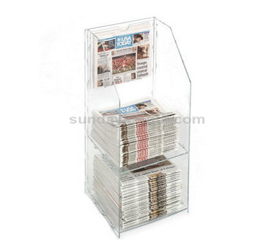 Acrylic newspaper stand