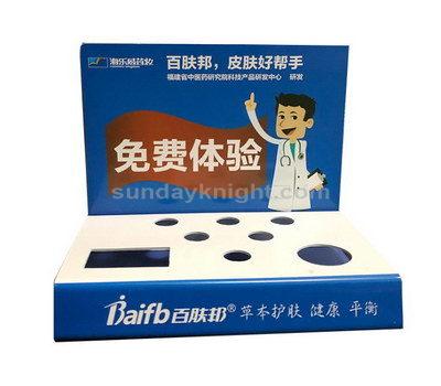 Acrylic cosmetics stand design