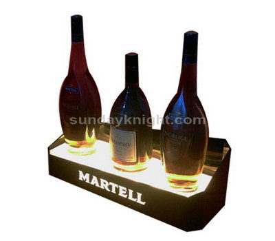 LED wine bottle display stand