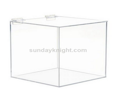 Custom acrylic box with hinged lid