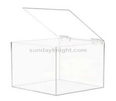 Custom made acrylic box with hinged lid