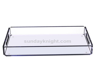 Clear rectangular tray