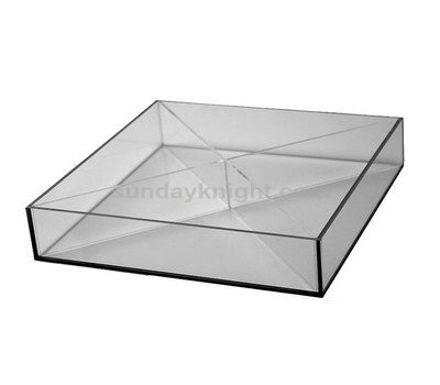 Acrylic tray with divider