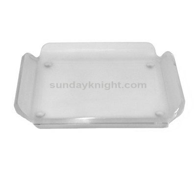 Clear decorative tray
