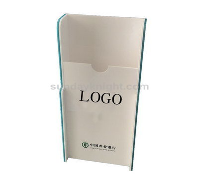 White acrylic brochure holder