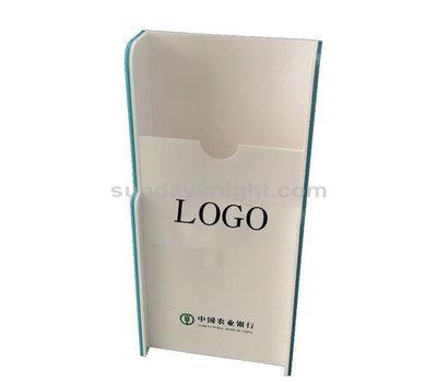 White acrylic brochure holder
