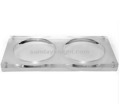 Clear acrylic coasters