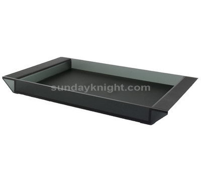 Translucent black acrylic tray