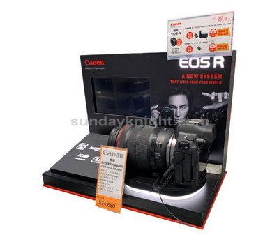 Custom camera display stand