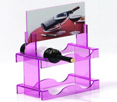 Wine bottle acrylic display stand