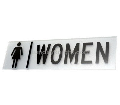 Acrylic toilet signage