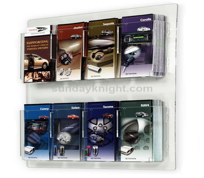 Acrylic brochure wall display