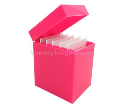SKMD-315-1 Red acrylic eyelash case box