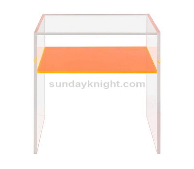 Acrylic end side bedside table