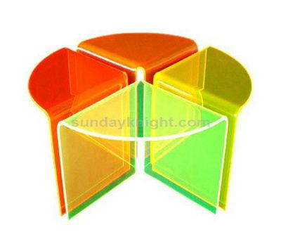 Acrylic corner side table
