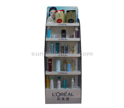 Custom cosmetic display shelf