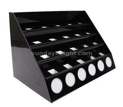 Acrylic makeup display rack