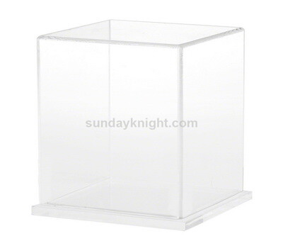 Acrylic display box with clear base