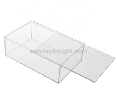 Custom sliding lid acrylic box