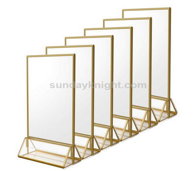 Gold edged acrylic sign holder 8X11.5