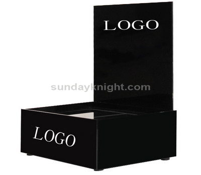 Black cosmetic display stands