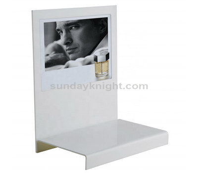 White acrylic cosmetic display