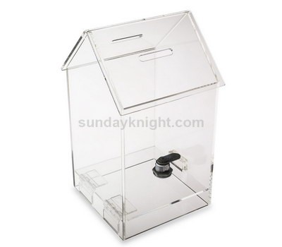 House shaped acrylic donation box