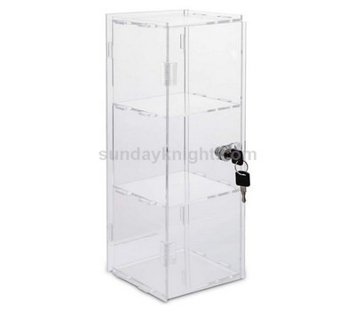 Custom acrylic display case with lock