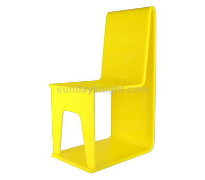 Yellow acrylic chair