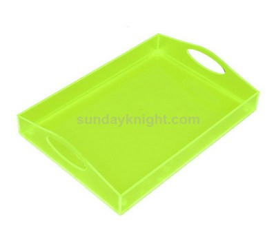 Translucent green acrylic tray