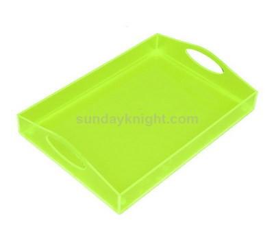 Translucent green acrylic tray
