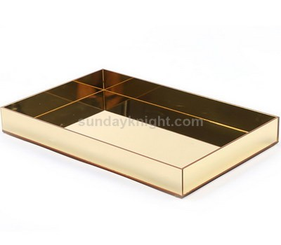 Gold mirror acrylic tray
