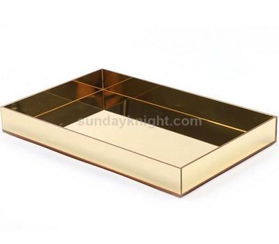 Gold mirror acrylic tray
