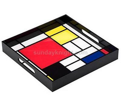 Custom black acrylic tray