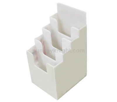 White acrylic literature holder