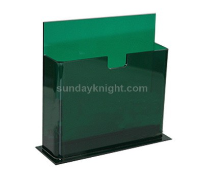 Green acrylic brochure holder