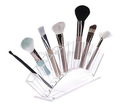 Clear acrylic display for makeup brushes