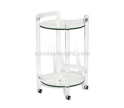 Clear acrylic room service trolley