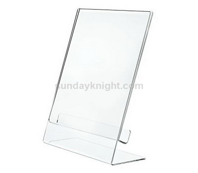 L shaped acrylic sign holder