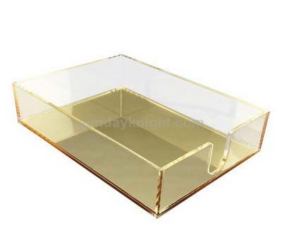 Acrylic tray with gold mirror base