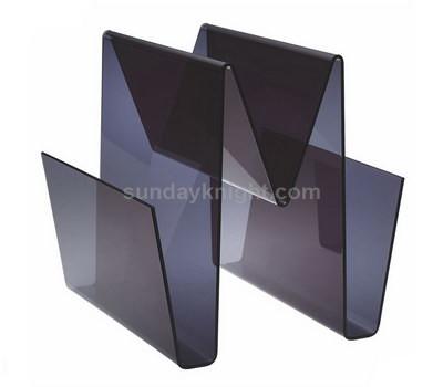 Custom acrylic magazine holder