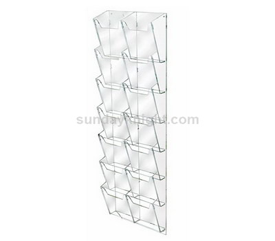 Acrylic brochure holder for wall