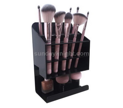 Black acrylic display for cosmetic brush