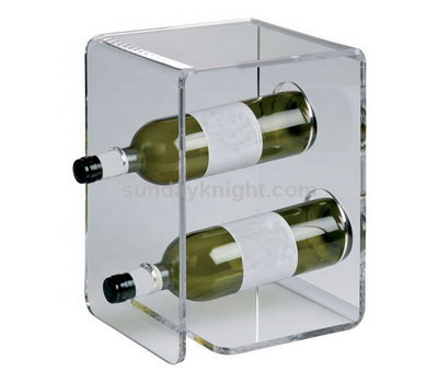 Perspex wine bottle display holder