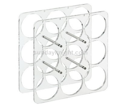 Clear wine bottle display holder