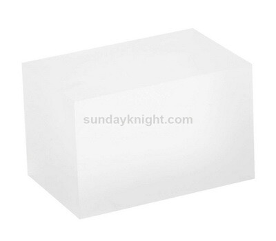 Sandblasted acrylic blocks
