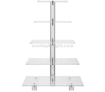 5 tier clear acrylic cupcake stand with base