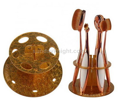 Gold acrylic makeup brush display stand