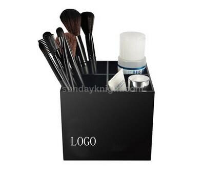 Black acrylic makeup organizer
