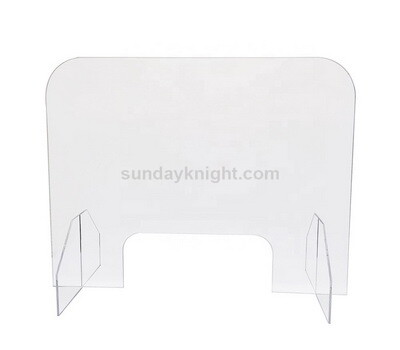 Acrylic barrier shield for desk